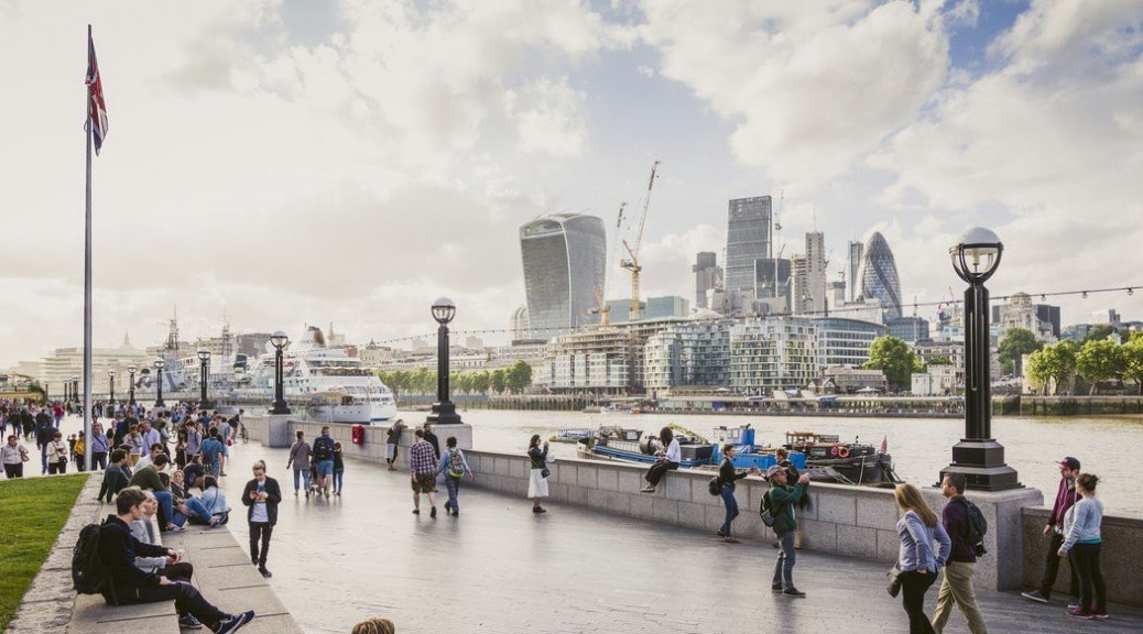 Picture of London with the financial district in the background, where UK employers are trying to hire workers with some of the most sought-after languages